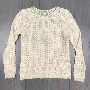 United Colors of Benetton Sheer Creme Sweater